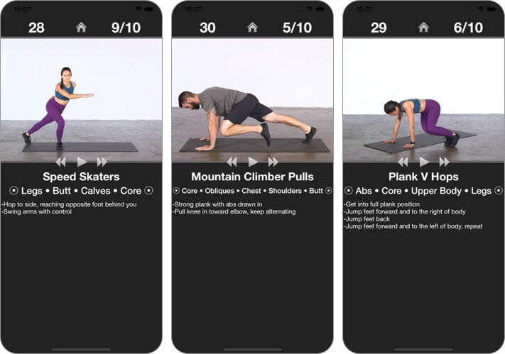 daily cardio workout - trainer iphone and ipad stretching app screenshot