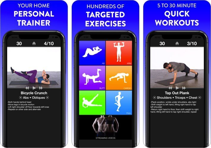 daily workouts fitness trainer iphone and ipad stretching app screenshot
