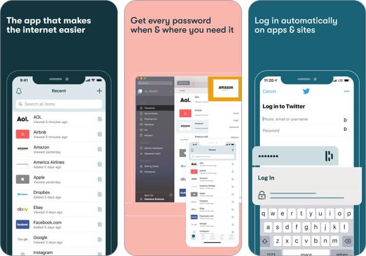 dashlane password manager iphone app screenshot
