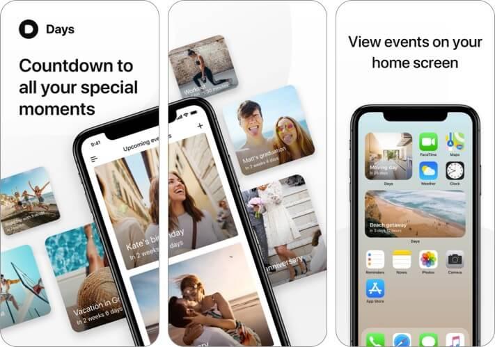Days Event Countdown iPhone and iPad App Screenshot