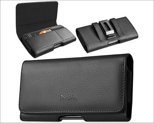 De-Bin Premium Belt Holster Case for iPhone 12 Pro Max and 12 Mini