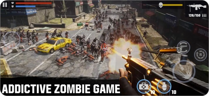 Dead Target iPhone and iPad Zombie Game Screenshot