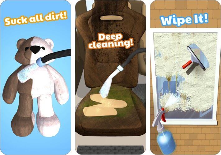 deep clean inc 3d iphone and ipad game screenshot