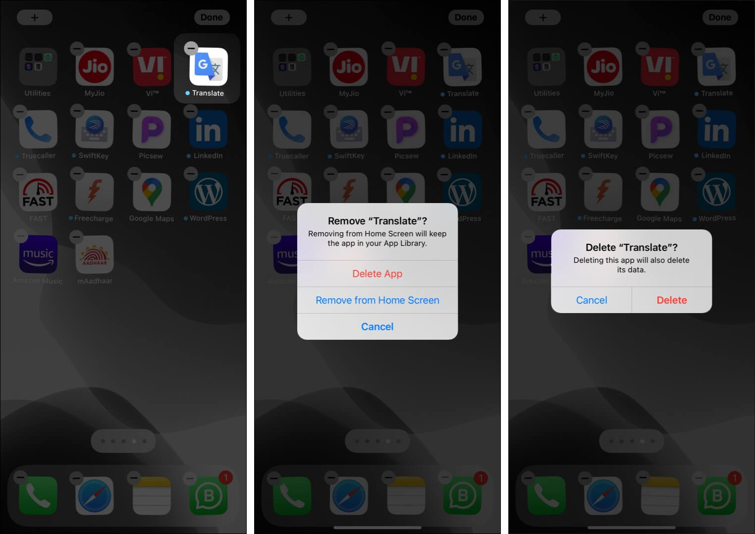 Delete apps on iPhone in iOS 14