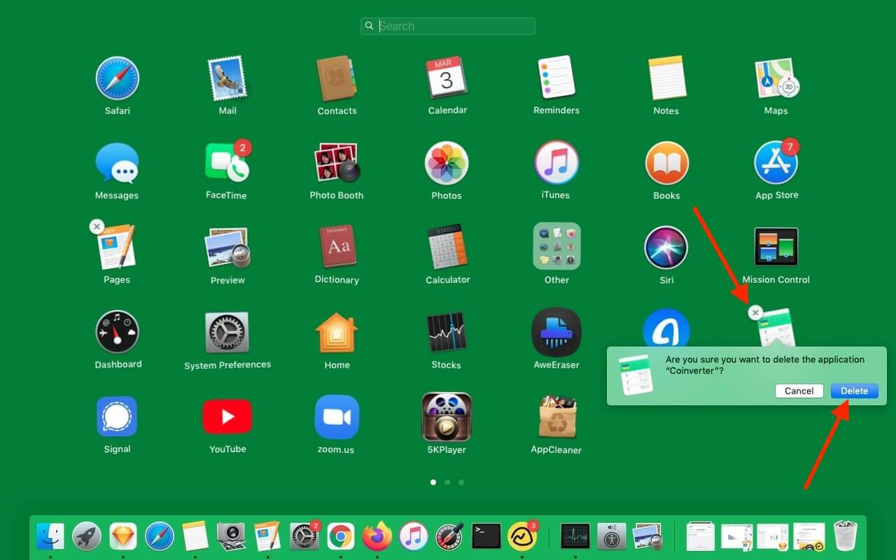 Delete Mac apps via Launchpad