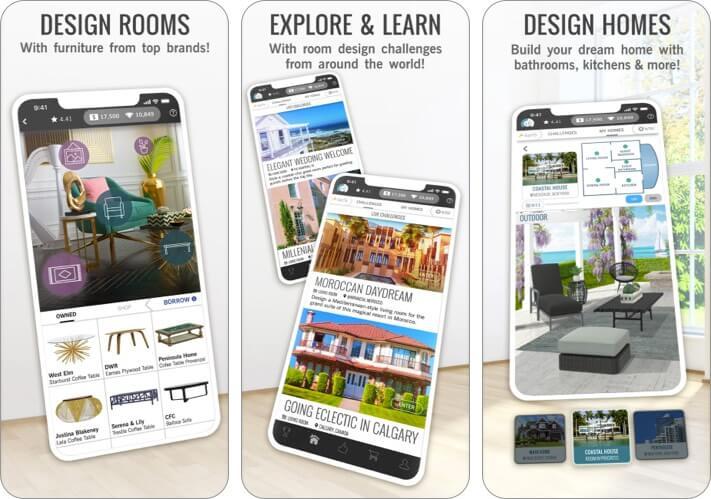 Design Home House Renovation iPhone and iPad App Screenshot