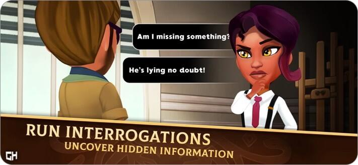 Detective Jackie iPhone and iPad Game Screenshot