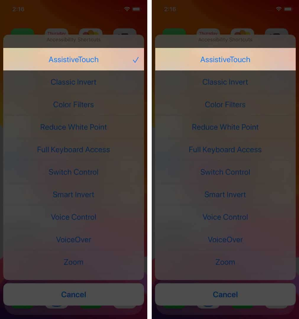disable accessibility shortcuts on iphone