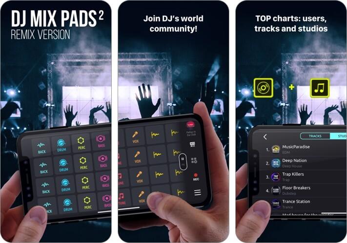 dj mix pads 2 iphone app screenshot