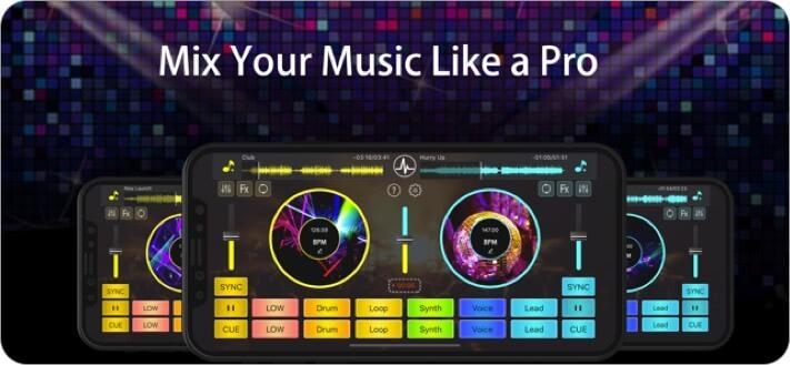 dj mixer studio ios app screenshot