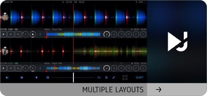 dj player professional iphone app screenshot