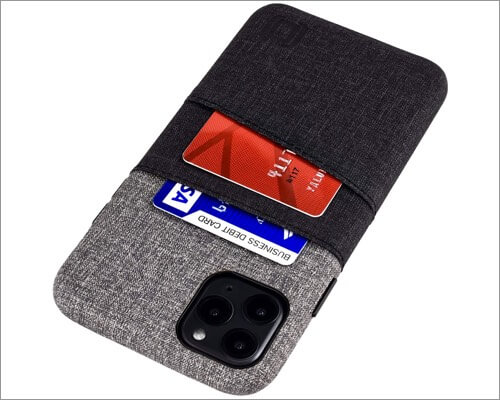 dockem canvas style fabric case for iphone 11, 11 pro and 11 pro max