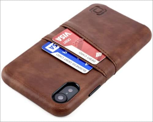 dockem iphone xr card holder case