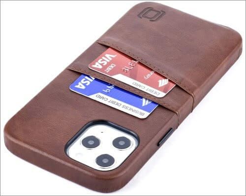 Dockem Leather Cover with Card Holder for iPhone 12 Pro Max