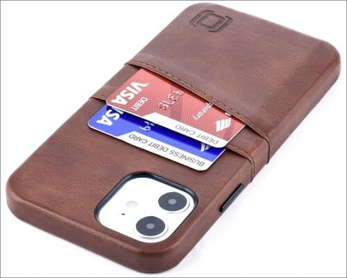 Dockem Synthetic Leather Case for iPhone 12 and 12 Pro