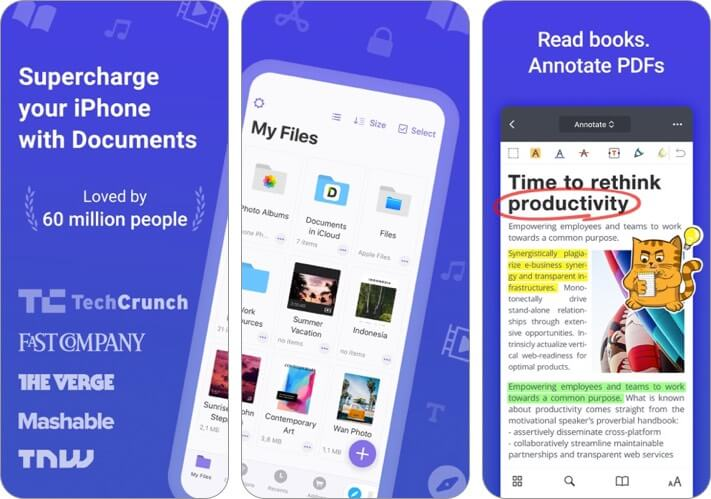 documents by readdle iphone and ipad file manager app screenshot