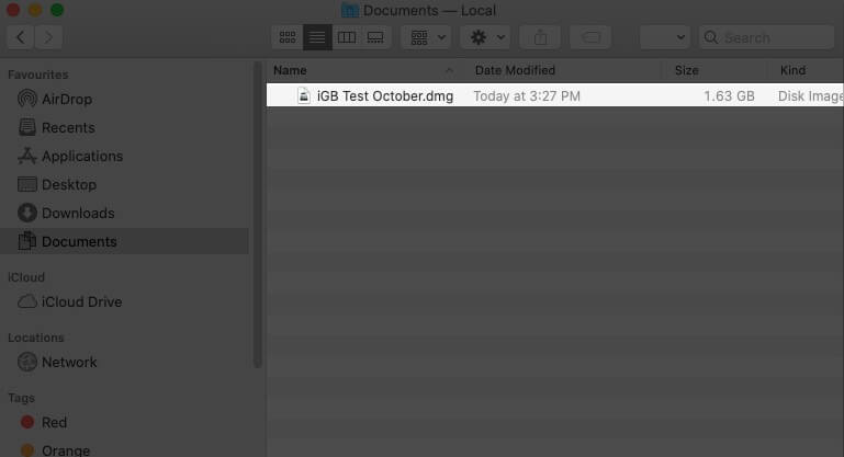 Doucle Click on .dmg File on Mac