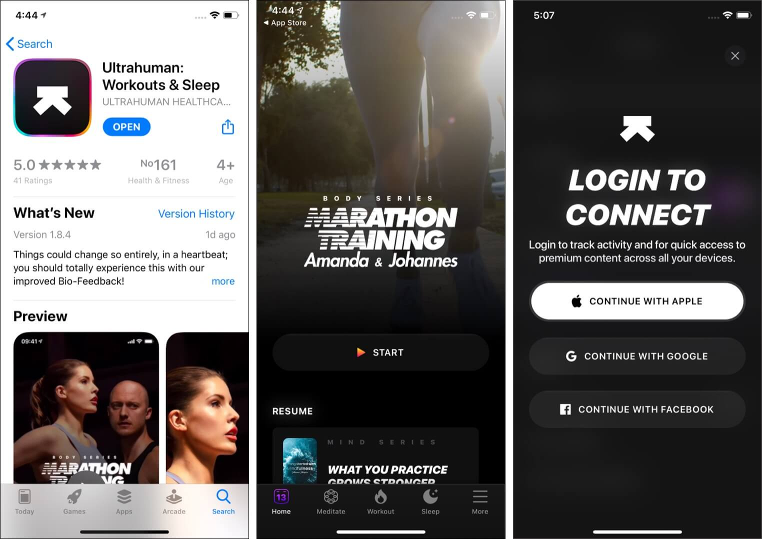 Download Ultrahuman and login for best results
