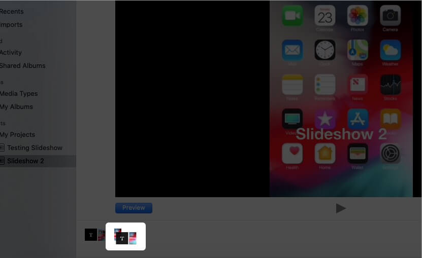 Drag and Drop Slide to Arrange Photos in Slideshow on Mac