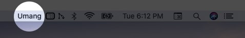 Drag Name to Change Location in Menu Bar on Mac