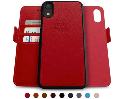 dream fibonacci iphone xr slim leather case