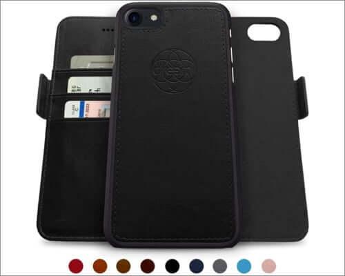 dreem rfid protected folio case for iphone se 2020
