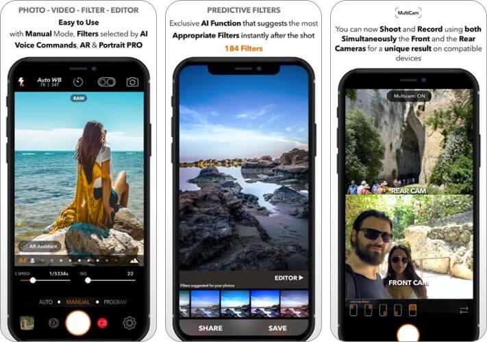 dslr camera iphone app screenshot