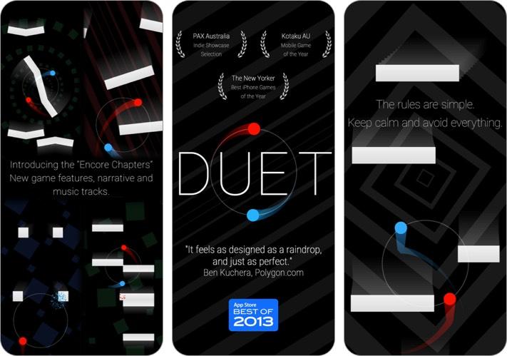 duet games iphone and ipad offline game screenshot