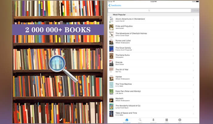 eBook Downloader iPhone and iPad App Screenshot