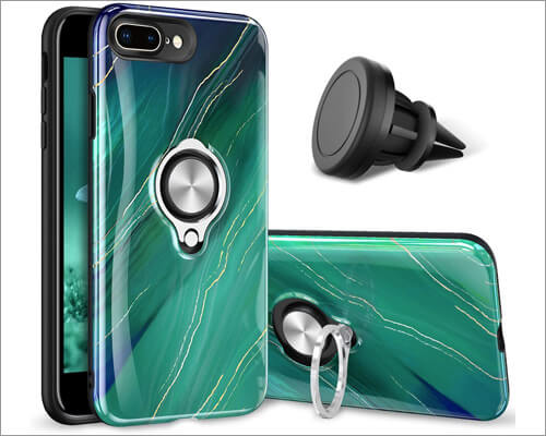 eSamcore Ring Grip Case for iPhone 8 Plus