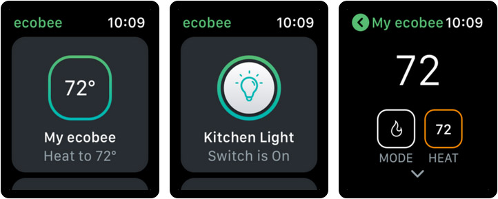 ecobee Apple Watch Home Automation App Screenshot