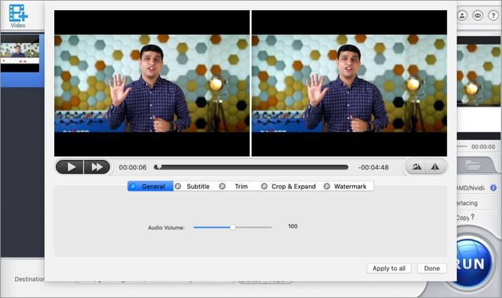 Edit Video as Per Requirement in WinX HD Video Converter on Mac
