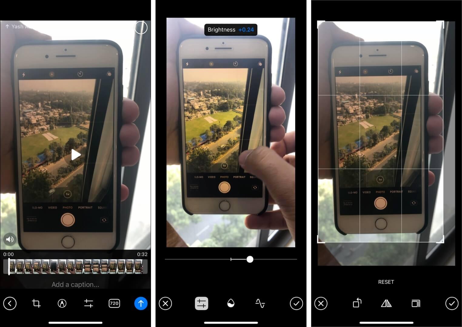 Edit videos in Telegram app before sending