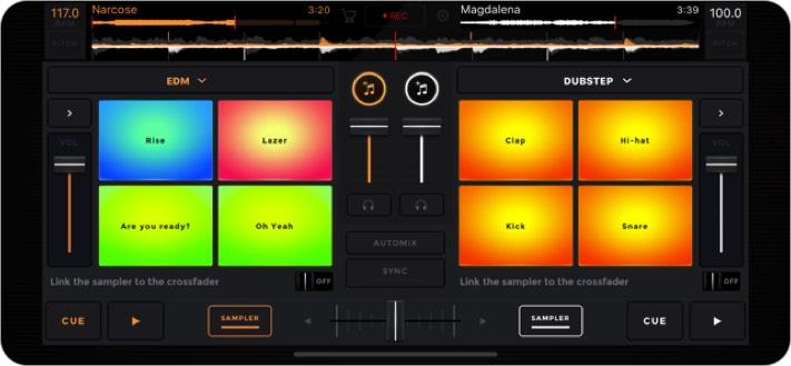 edjing mix dj iphone app screenshot