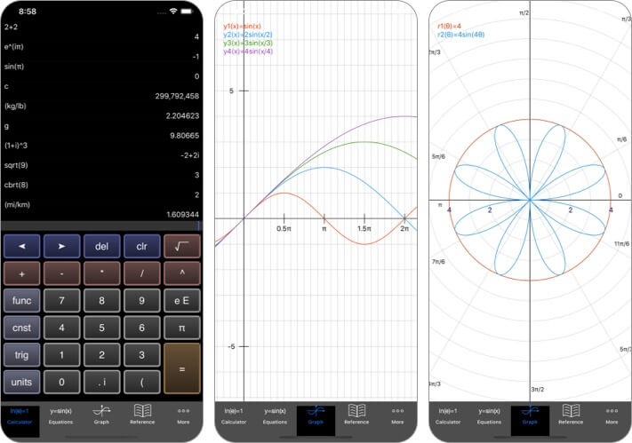 EduCalc Classic iPhone and iPad Calculator App Screenshot