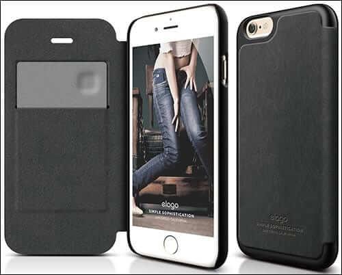 elago Leather Flip Case for iPhone 6