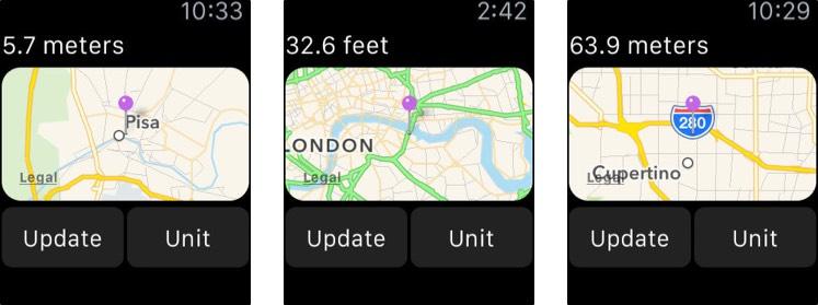 Elevation - Altimeter Map Apple Watch App Screenshot