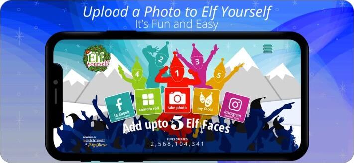 ElfYourself iPhone and iPad App Screenshot