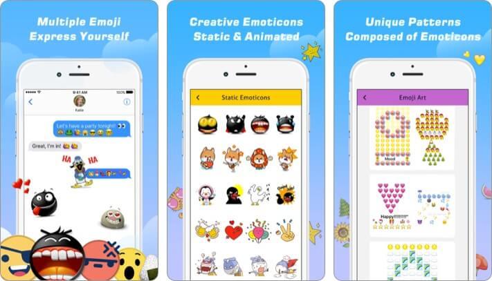 Emoji Free Emoticons Art iPhone and iPad App Screenshot
