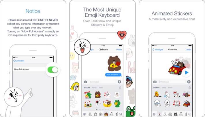 Emoji Keyboard by Line iPhone and iPad App Screenshot