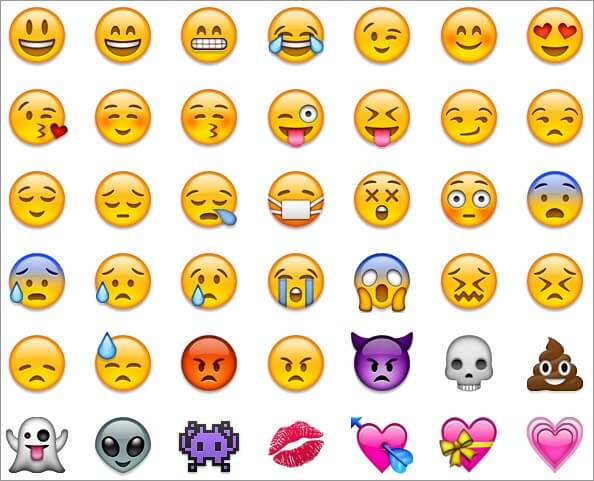 Emojis Came with iOS 5