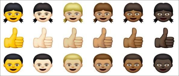 Emojis with Skin tone