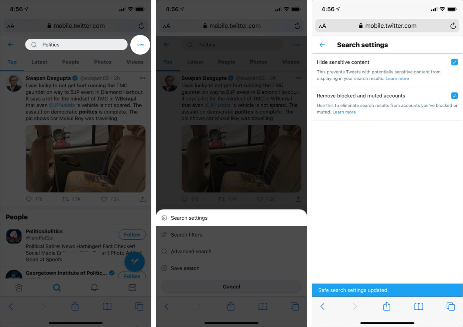 Enable and Use Twitter Safe Search on iPhone and iPad