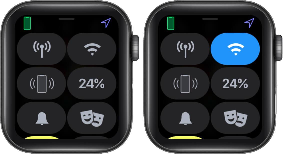 Enable WiFi on Apple Watch