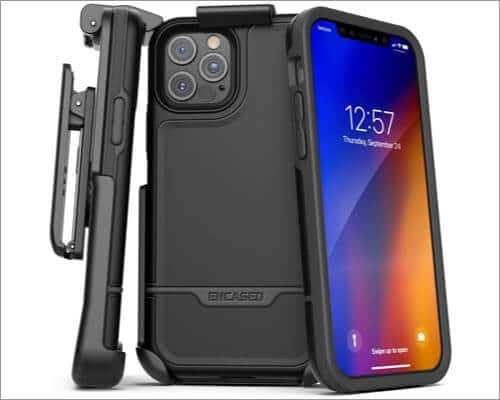 Encased Rebel Series Belt Clip Case for iPhone 12 Pro Max and 12 Mini