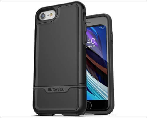 encased rebel series heavy duty case for iphone se 2020