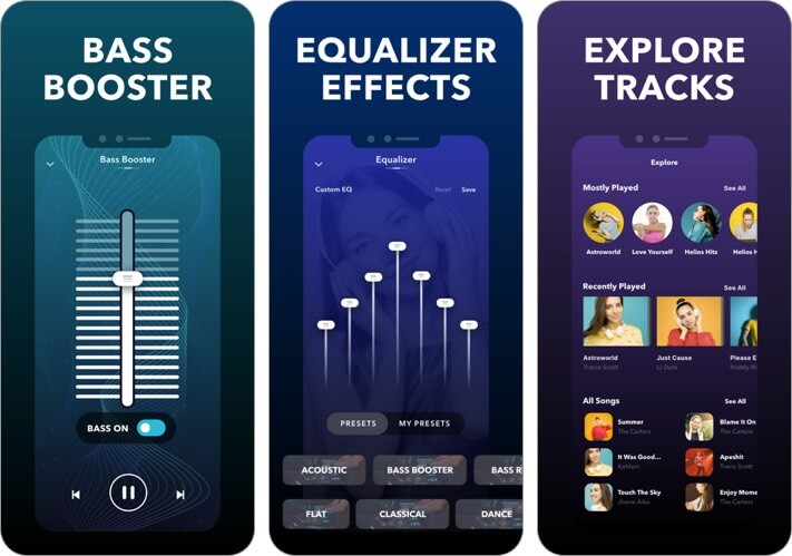 equalizer fx iphone and ipad app screenshot