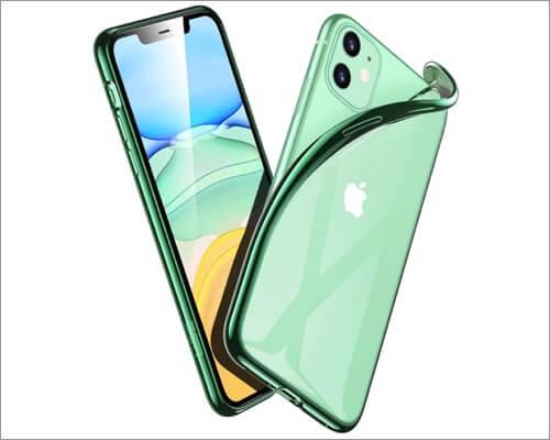 esr essential zero clear silicone cover for iphone 11