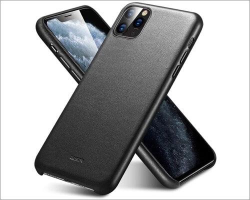 esr iphone 11 pro premium real leather case