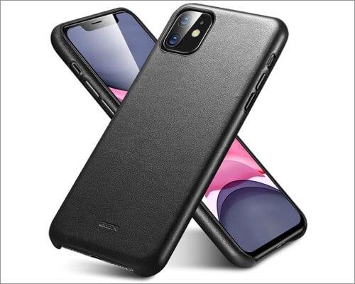 esr iphone 11 slim leather case